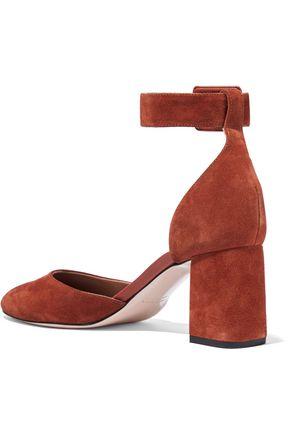RED(V) Suede pumps