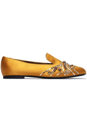 ROGER VIVIER Embellished satin slippers