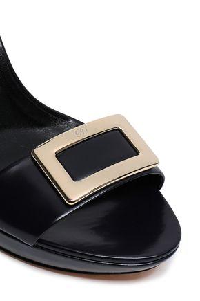 ROGER VIVIER Glossed-leather sandals