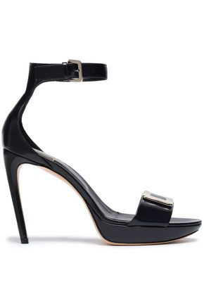 ROGER VIVIER Glossed-leather sandals
