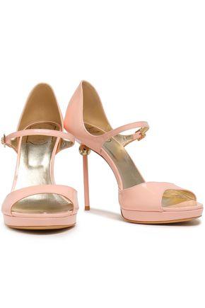 ROGER VIVIER Mirrored-leather platform sandals