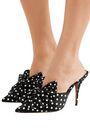 ALEXANDRE VAUTHIER Kate bow-embellished polka-dot satin mules