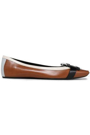 ROGER VIVIER | Roger Vivier Patent-Trimmed Leather Loafers | Goxip