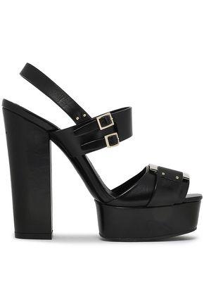 ROGER VIVIER | Roger Vivier Woman Leather Platform Sandals Black | Goxip