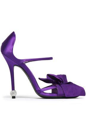 ROGER VIVIER | Roger Vivier Woman Knotted Satin Sandals Violet | Goxip