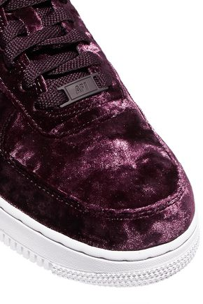Air Force 1 metallic faux leather trimmed crushed velvet