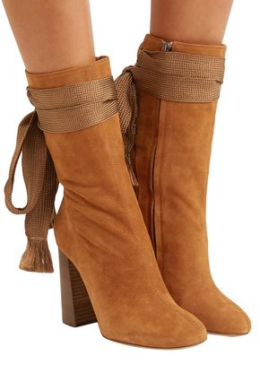 CHLOÉ Harper bow-detailed suede boots