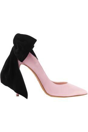 ALEXANDRE VAUTHIER Velvet bow-embellished satin pumps
