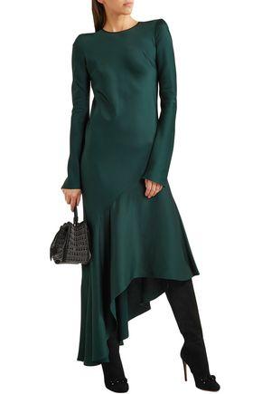 Alaïa Boots ALAÏA WOMAN STUDDED SUEDE KNEE BOOTS BLACK