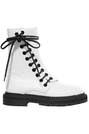 BURBERRY Florain lace-up leather ankle boots
