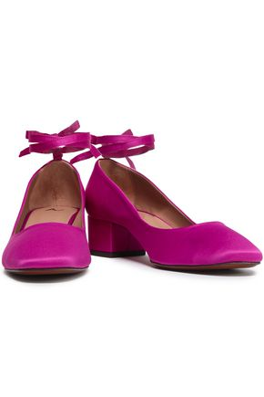 ALEXACHUNG Satin pumps