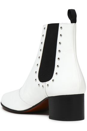 ALEXACHUNG Studded patent-leather ankle boots