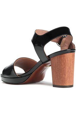 ALEXACHUNG Patent-leather sandals