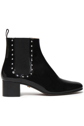 ALEXACHUNG Studded patent-leather boots