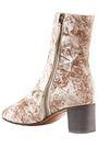 CHLOÉ Crushed-velvet ankle boots