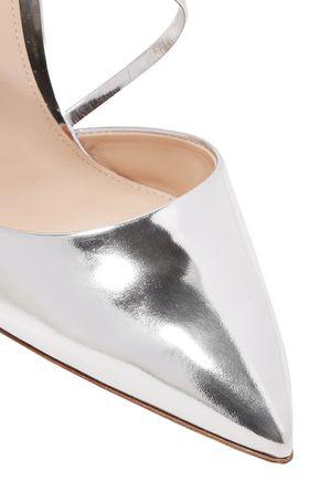 GIANVITO ROSSI Manhattan metallic leather mules