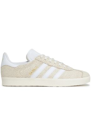 ADIDAS ORIGINALS Gazelle cracked-leather sneakers