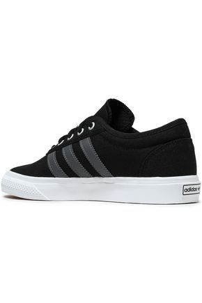 ADIDAS ORIGINALS Leather-trimmed canvas sneakers
