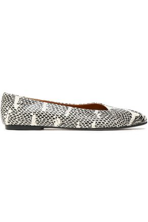 ATP ATELIER Printed leather ballet flats