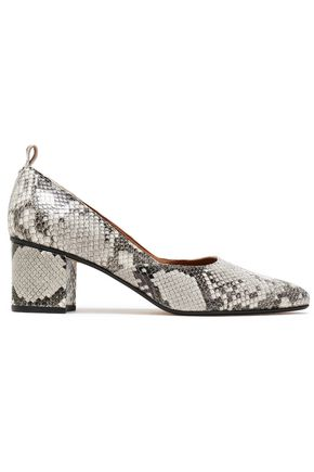 ATP ATELIER Snake-effect leather pumps