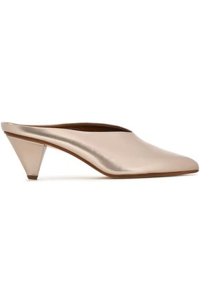 ATP ATELIER Metallic leather mules