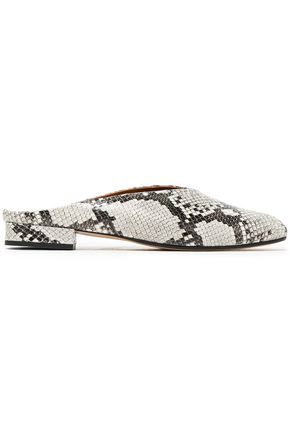 ATP ATELIER Printed leather mules