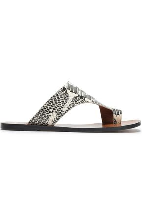 ATP ATELIER Snake-effect leather sandals