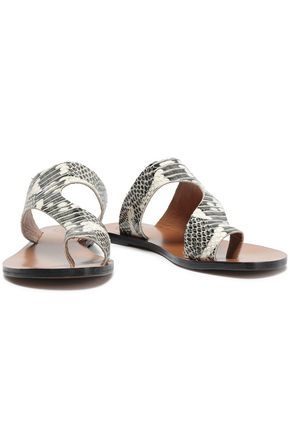 8db0705ffbb ATP ATELIER Snake-effect leather sandals