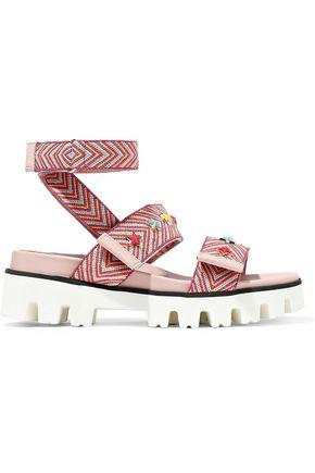 RED(V) Studded jacquard sandals