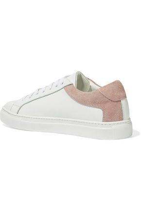 IRIS & INK Isabelle suede-trimmed leather sneakers