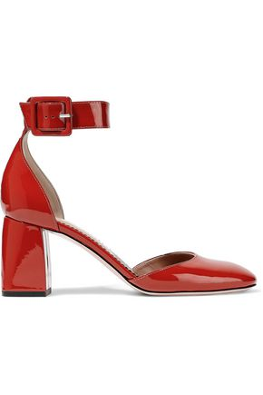 RED(V) Patent-leather pumps