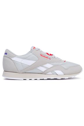 REEBOK Suede and stretch-knit sneakers