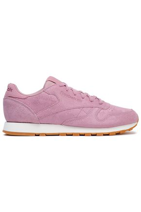 REEBOK Classic snake-effect suede sneakers