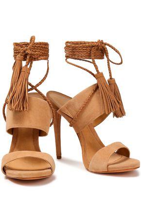 SCHUTZ Jinx tasseled suede sandals