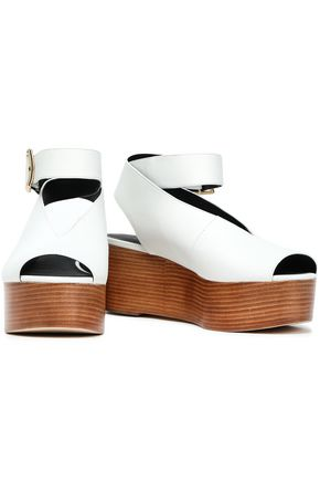 a480e81b020 TIBI Leather wedge sandals