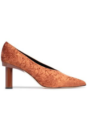 TIBI Zuri crushed-velvet pumps