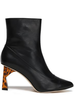 TIBI Alexis paneled leather ankle boots