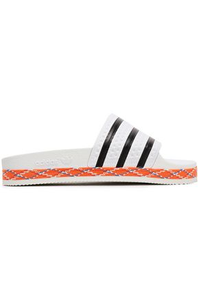 ADIDAS ORIGINALS Adilette New Bold striped embossed rubber slides
