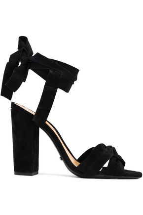 SCHUTZ Twist-front suede sandals