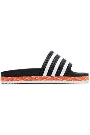 ADIDAS ORIGINALS Adilette New Bold striped rubber slides