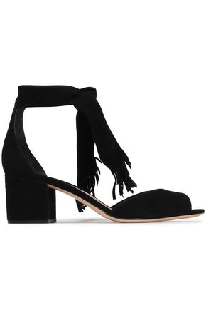 SCHUTZ Kalicia fringe-trimmed suede sandals