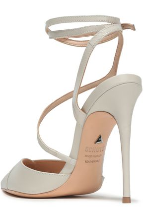 SCHUTZ Anila cutout patent-leather pumps