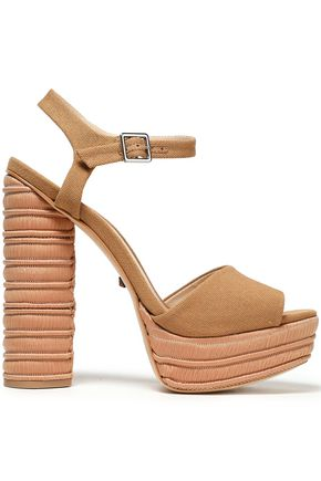 SCHUTZ Jane canvas platform sandals