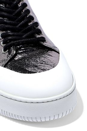 McQ Alexander McQueen Netil metallic crackled leather sneakers