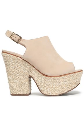 SCHUTZ Nubuck platform sandals