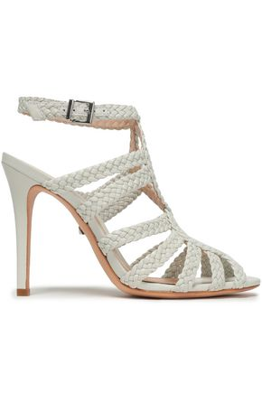 SCHUTZ Rennata braided leather sandals