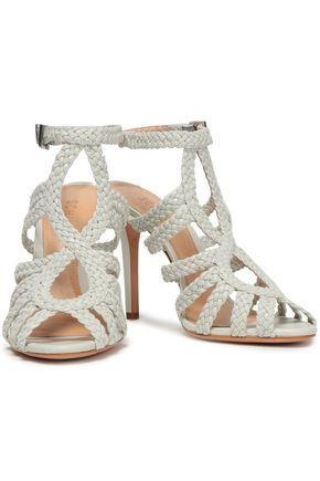 SCHUTZ Rennata braided leather sandals