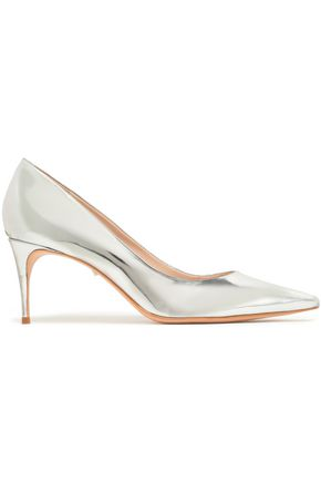 SCHUTZ Lola mirrored-leather pumps
