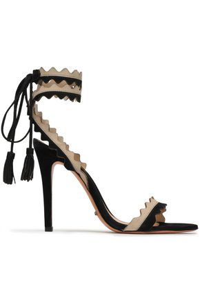 SCHUTZ Lisana tasseled two-tone suede sandals