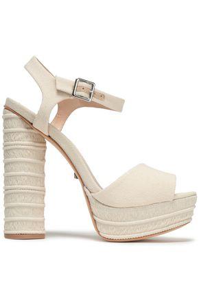 49d4dd31e779 SCHUTZ Jane canvas platform sandals
